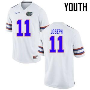 Youth Florida Gators #11 Vosean Joseph College Football Jerseys White 947720-933