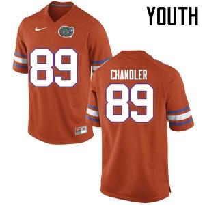 Youth Florida Gators #89 Wes Chandler College Football Jerseys Orange 199512-522