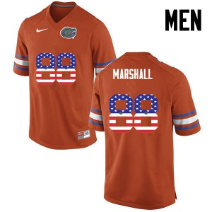 Men Florida Gators #88 Wilber Marshall College Football USA Flag Fashion Orange 540141-975
