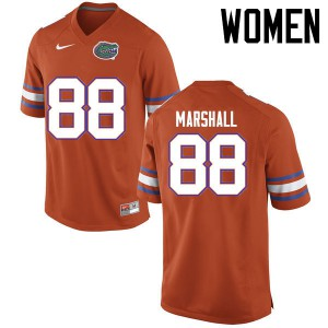 Women Florida Gators #88 Wilber Marshall College Football Jerseys Orange 897518-564