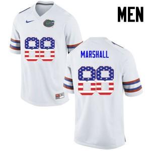 Men Florida Gators #88 Wilber Marshall College Football USA Flag Fashion White 379504-506