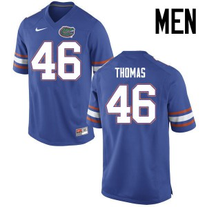 Men Florida Gators #46 Will Thomas College Football Jerseys Blue 390336-439