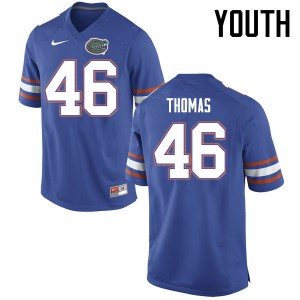 Youth Florida Gators #46 Will Thomas College Football Jerseys Blue 322201-512