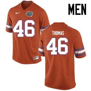 Men Florida Gators #46 Will Thomas College Football Jerseys Orange 155370-251