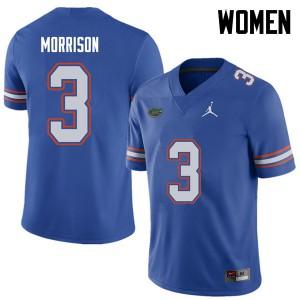 Jordan Brand Women #3 Antonio Morrison Florida Gators College Football Jerseys Royal 813123-756