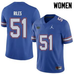 Jordan Brand Women #51 Antonio Riles Florida Gators College Football Jerseys Royal 535583-806