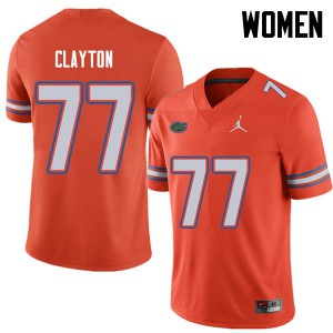 Jordan Brand Women #77 Antonneous Clayton Florida Gators College Football Jerseys Orange 254441-479