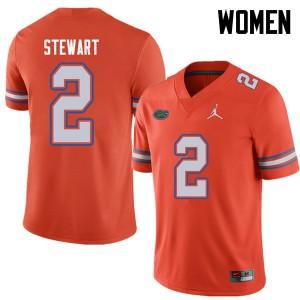 Jordan Brand Women #2 Brad Stewart Florida Gators College Football Jerseys Orange 894858-302