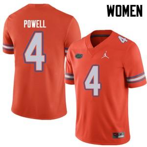 Jordan Brand Women #4 Brandon Powell Florida Gators College Football Jerseys Orange 224730-123
