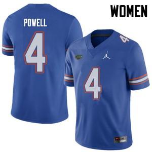 Jordan Brand Women #4 Brandon Powell Florida Gators College Football Jerseys Royal 822835-349