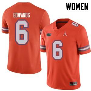 Jordan Brand Women #6 Brian Edwards Florida Gators College Football Jerseys Orange 802194-985