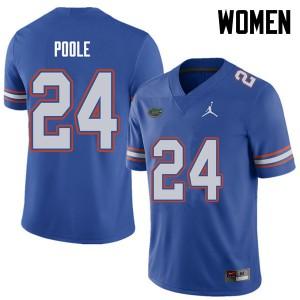 Jordan Brand Women #24 Brian Poole Florida Gators College Football Jerseys Royal 657298-542
