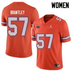 Jordan Brand Women #57 Caleb Brantley Florida Gators College Football Jerseys Orange 686025-654