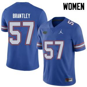 Jordan Brand Women #57 Caleb Brantley Florida Gators College Football Jerseys Royal 626702-493