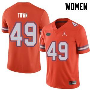 Jordan Brand Women #49 Cameron Town Florida Gators College Football Jerseys Orange 665258-700
