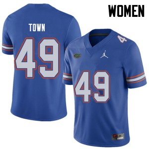Jordan Brand Women #49 Cameron Town Florida Gators College Football Jerseys Royal 704797-674