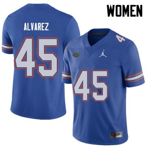 Jordan Brand Women #45 Carlos Alvarez Florida Gators College Football Jerseys Royal 123245-186
