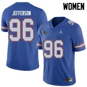 Jordan Brand Women #96 Cece Jefferson Florida Gators College Football Jerseys Royal 145714-367