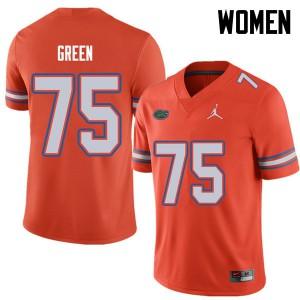 Jordan Brand Women #75 Chaz Green Florida Gators College Football Jerseys Orange 549085-874
