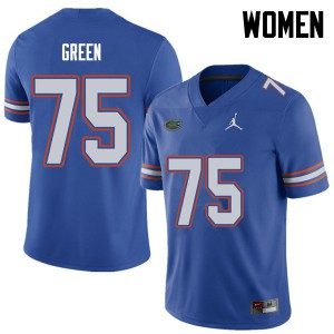 Jordan Brand Women #75 Chaz Green Florida Gators College Football Jerseys Royal 987642-994
