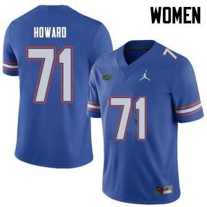 Jordan Brand Women #71 Chris Howard Florida Gators College Football Jerseys Royal 994953-328