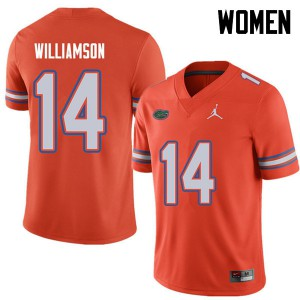Jordan Brand Women #14 Chris Williamson Florida Gators College Football Jerseys Orange 456294-849