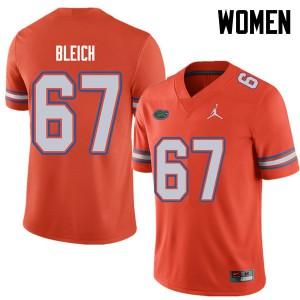Jordan Brand Women #67 Christopher Bleich Florida Gators College Football Jerseys Orange 286441-553