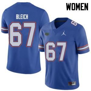 Jordan Brand Women #67 Christopher Bleich Florida Gators College Football Jerseys Royal 496513-172