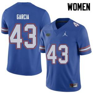Jordan Brand Women #43 Cristian Garcia Florida Gators College Football Jerseys Royal 807223-696