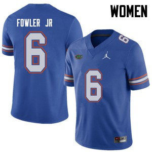 Jordan Brand Women #6 Dante Fowler Jr. Florida Gators College Football Jerseys Royal 937596-265