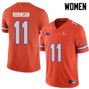 Jordan Brand Women #11 Demarcus Robinson Florida Gators College Football Jerseys Orange 237114-646