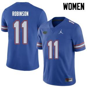 Jordan Brand Women #11 Demarcus Robinson Florida Gators College Football Jerseys Royal 740119-128