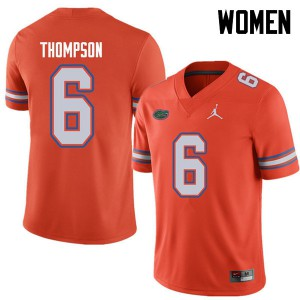 Jordan Brand Women #6 Deonte Thompson Florida Gators College Football Jerseys Orange 778850-450