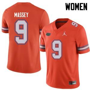 Jordan Brand Women #9 Dre Massey Florida Gators College Football Jerseys Orange 370350-700