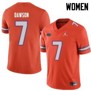 Jordan Brand Women #7 Duke Dawson Florida Gators College Football Jerseys Orange 396064-896