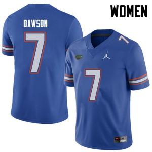 Jordan Brand Women #7 Duke Dawson Florida Gators College Football Jerseys Royal 763550-761