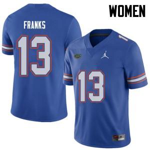 Jordan Brand Women #13 Feleipe Franks Florida Gators College Football Jerseys Royal 664107-225
