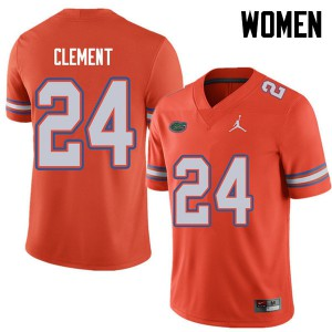 Jordan Brand Women #24 Iverson Clement Florida Gators College Football Jerseys Orange 319345-526