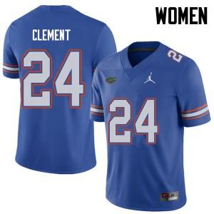 Jordan Brand Women #24 Iverson Clement Florida Gators College Football Jerseys Royal 461934-517