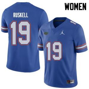 Jordan Brand Women #19 Jack Ruskell Florida Gators College Football Jerseys Royal 819854-547