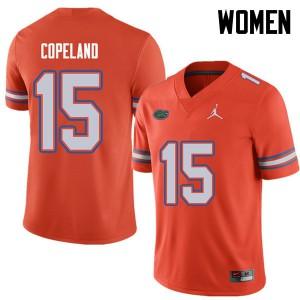 Jordan Brand Women #15 Jacob Copeland Florida Gators College Football Jerseys Orange 434552-642
