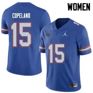Jordan Brand Women #15 Jacob Copeland Florida Gators College Football Jerseys Royal 784890-189