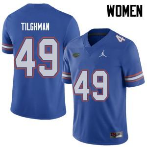 Jordan Brand Women #49 Jacob Tilghman Florida Gators College Football Jerseys Royal 748374-392