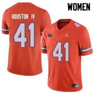 Jordan Brand Women #41 James Houston IV Florida Gators College Football Jerseys Orange 646664-400