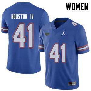 Jordan Brand Women #41 James Houston IV Florida Gators College Football Jerseys Royal 816731-185