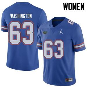 Jordan Brand Women #63 James Washington Florida Gators College Football Jerseys Royal 841660-544