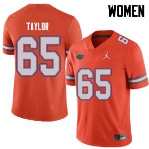 Jordan Brand Women #65 Jawaan Taylor Florida Gators College Football Jerseys Orange 850169-877