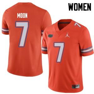 Jordan Brand Women #7 Jeremiah Moon Florida Gators College Football Jerseys Orange 446119-604