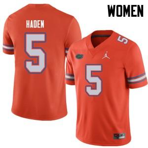 Jordan Brand Women #5 Joe Haden Florida Gators College Football Jerseys Orange 580503-696