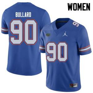Jordan Brand Women #90 Jonathan Bullard Florida Gators College Football Jerseys Royal 797658-930